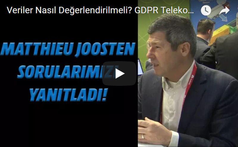 SAS'den Matthieu Joosten (EMEA Industry Leader, Telco) ile keyifli bir söyleşi gerçekleştirdik. Telekom sektöründeki verilerin nasıl değerlendirilmesi gerektiği, yeni veri güvenlik yönetmeliği GDPR ve çok daha fazlası sizin için hazırladığımız videomuzda.