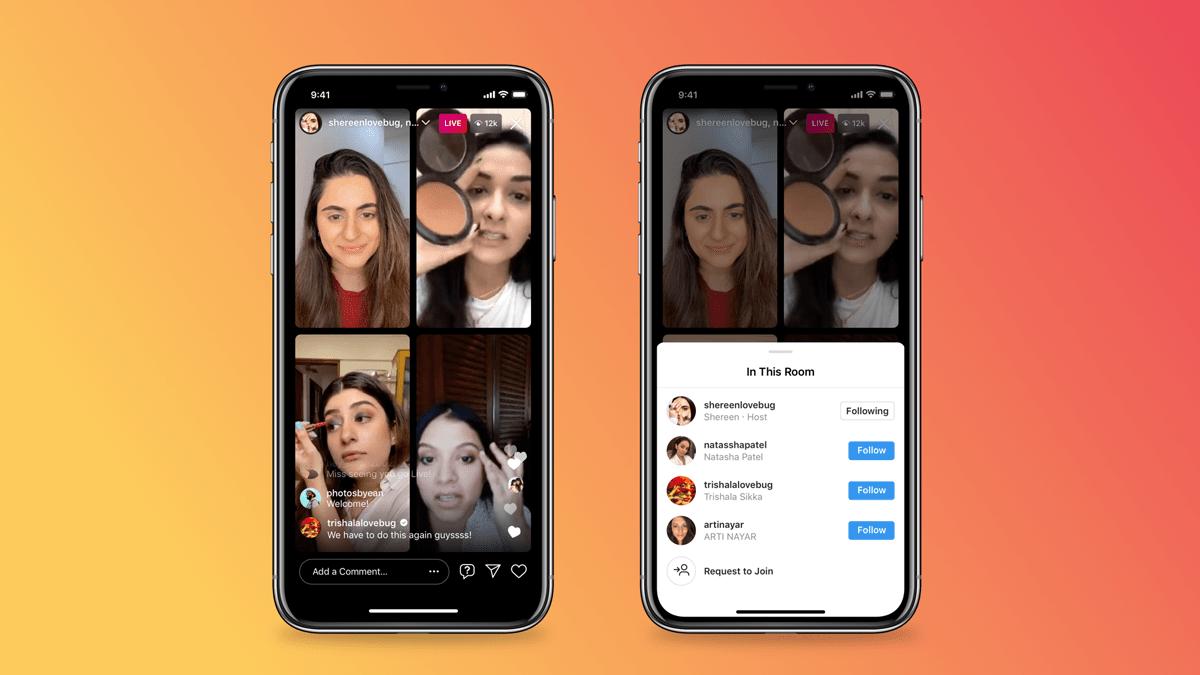 Instagram yeni canlı yayın