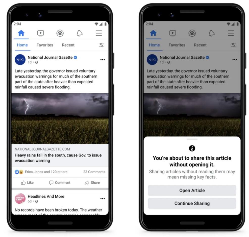 Facebook, Artık Siz Paylaşmadan Önce Soracak: Okudunuz mu?