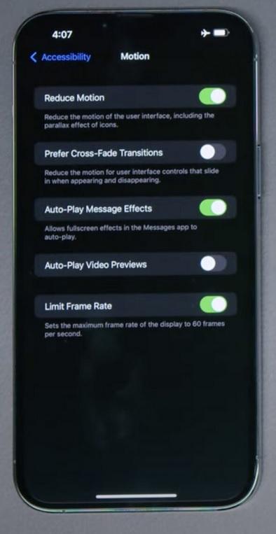 iPhone 13 Pro ve Max'te 120Hz ProMotion Ekran Yenileme Nasıl Açılır?